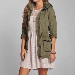Abercrombie & Fitch olive green jacket